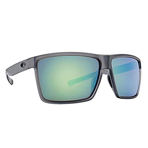 Costa Rincon Sunglasses Matte Smoke Crystal/Green Mirror 580G & Carekit Bundle ()