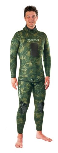 Mares Pure Instinct 3mm Spearfishing Freediving Wetsuit Jacket, Green Camo, S6 X-Large