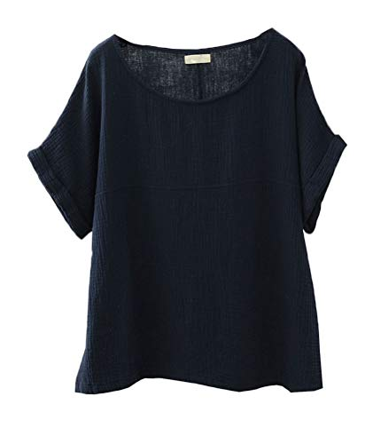 Soojun Womens Collar Patchwork Blouses