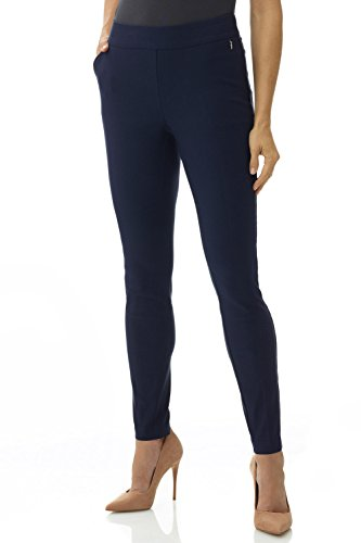 Rekucci Women's Ease in to Comfort Modern Stretch Skinny Pant w/Tummy Control (16SHORT,Navy) Navy Pants
