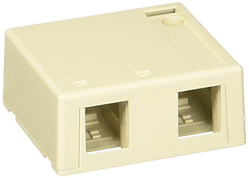 Leviton 41089-2IP Quickport Surface Mount Housing, 2-Port, Includes 1 Blank Quickport Insert, 25-Pack, Ivory by Leviton