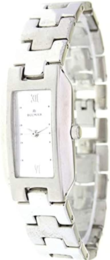 Blumar Bl-09699 Reloj Analogico para Mujer Caja De Acero Inoxidable Esfera Color Plateado