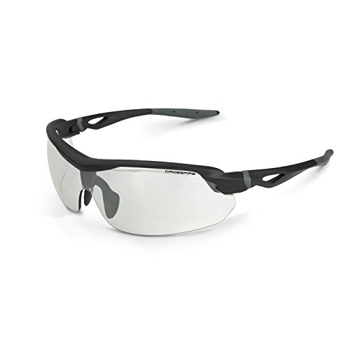 Crossfire Eyewear 392215 Cirrus Indoor/Outdoor LENS & Matte Black - Safety Transition Glasses