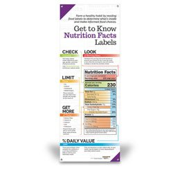 Nasco Get to Know Nutrition Facts Labels - Vinyl Banner without Stand - 24'' x 63'' - Family & Consumer Sciences Education Program - WA34548 by Nasco