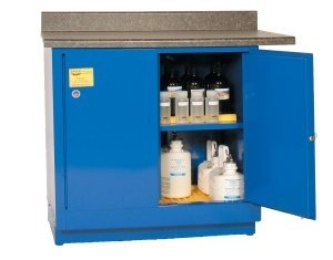 Eagle CRA-71 Acid/Corrosive Safety Cabinet, Manual Closing, 2 Door, 1 Shelf, Under-Counter, 35