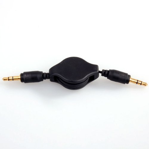 NEEWER Auxiliary Black Retractable Cable Cord for All MP3 iPod iPhone Samsung Cell Phones Car Stereos 3.5MM