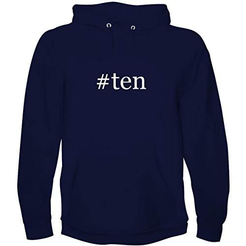 (The Town Butler #Ten - Men's Hoodie Sweatshirt, Navy, X-Large)