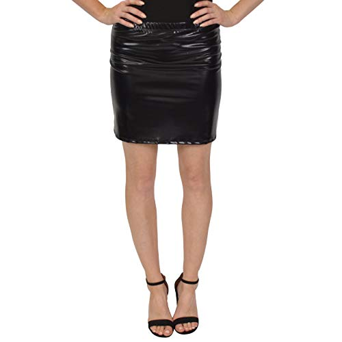 Stretch is Comfort Women's Metallic Mini Skirt Black 2X