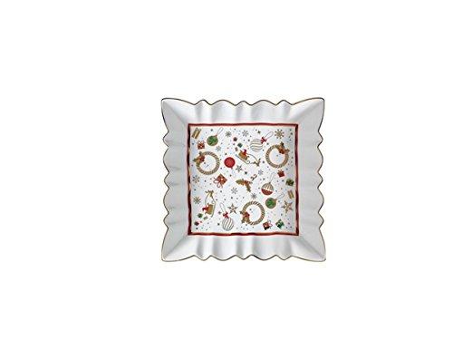 Brandani 53021 Alleluia - Bandeja de porcelana china, color blanco Brandani Gift Group S.a.s Brandani_53021