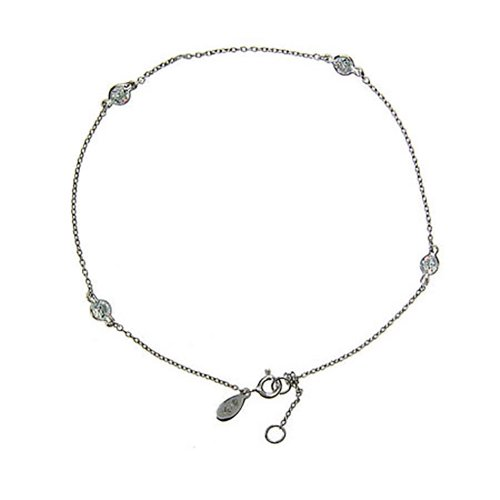 Sparkling-CZ-Studded-Chain-Anklet