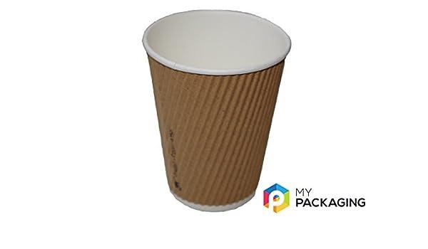 12oz taza de café de plata (papel Kraft 500 cantidad ...