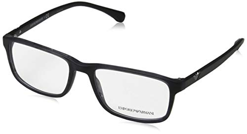 Armani EA3098 Eyeglass Frames 5549-55 - Matte Striped Blue