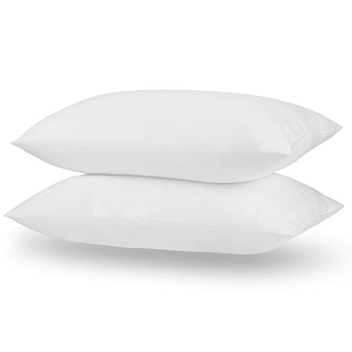 """Acanva Bed Pillow Inserts Decorative Breathable Extra-Soft Hotel Quality Rest Cushion Stuffer for Sleeping, Standard 20"""" x 26"""", White, 2 Pack"""