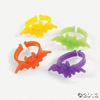 144 Cool Plastic BAT RINGS