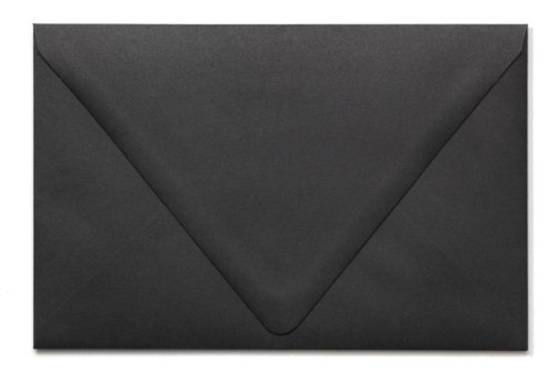 A9 Contour Flap Envelopes (5 3/4 x 8 3/4) - Midnight Black (50 Qty.)