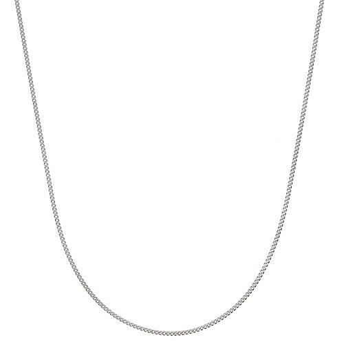 Sterling Silver Italian 1.4mm Diamond-Cut Cuban Curb Chain Necklace - 16