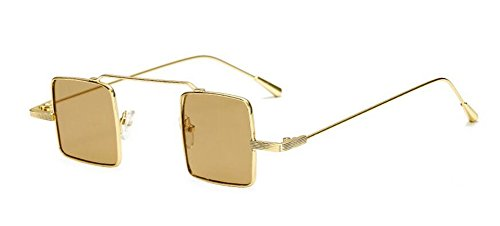 rond lunettes retro polarisées soleil de métallique vintage style Tranche du en Thé Lennon inspirées de cercle 7nnWrU