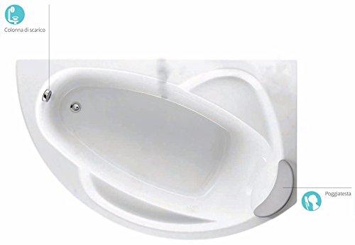 Prezzo Vasca Da Bagno Vogue : Arckstone novellini vogue standard con telaio 150x85xh55 cm 140 lt