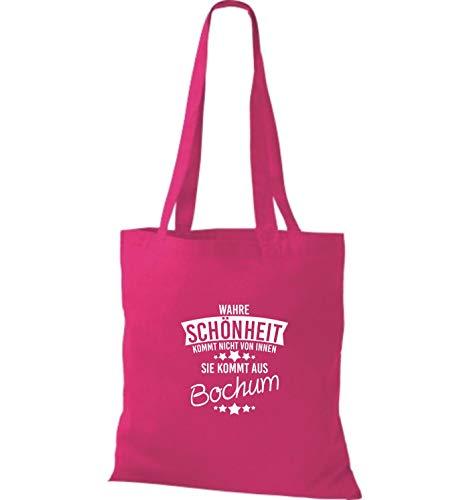 Fucsia Shirtstown Belleza Aus De Tela Bolsa Bochum Viene Verdadero 8aW481wq