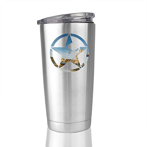 Skull London 20 Oz Stainless Steel Vacuum Insulated Tumbler Coffee Mug Unique Gifts ()