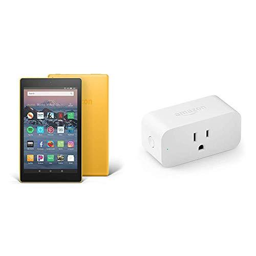 Fire HD 8 Tablet (8' HD Display, 32 GB, Yellow) with Amazon Smart Plug