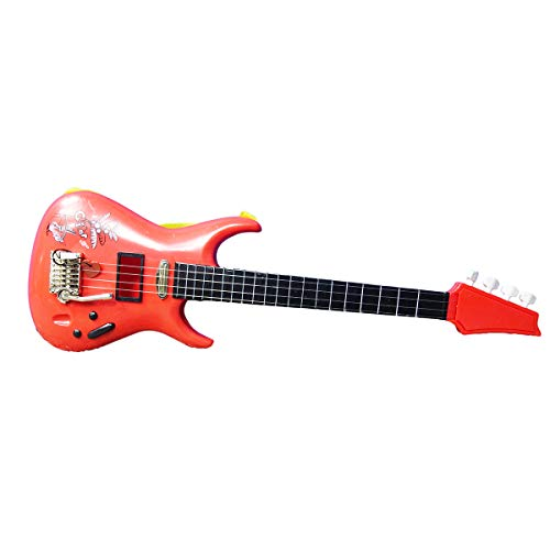 NBD Corp Bass Red Guitar for Kids – Best Guitar and Strings – Wooden Ukelele – Play Bass Guitar Notes for Beginners