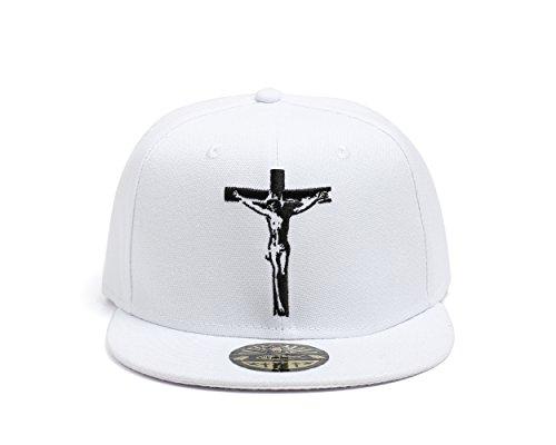 Cristiana de en Jesus Cruz Gorra True Blanca Heads por Baseball la CE7w7dq
