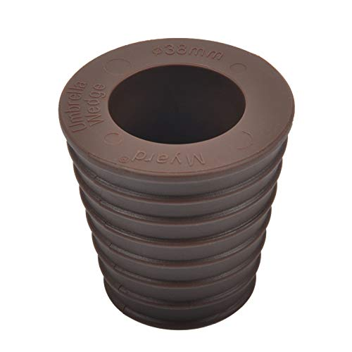 Myard MP UW38-DBR Umbrella Cone Wedge Spacer fits Patio Table Hole Opening or Base 2 to 2.5 Inch, Umbrella Pole Diameter 1 1/2