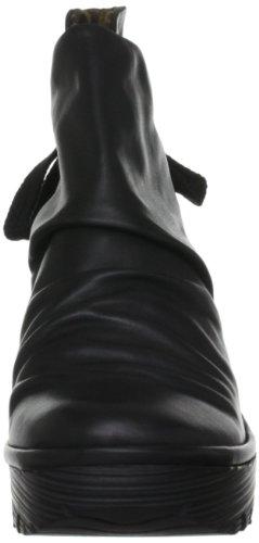 Zeppa Scarpe Nera In Donna London Con Pelle Yama Fly Da Stivaletti RvxFU1Wqw