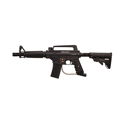 Tippmann US Army Alpha Black Tactical Edition Paintball Marker w/eGgrip ()