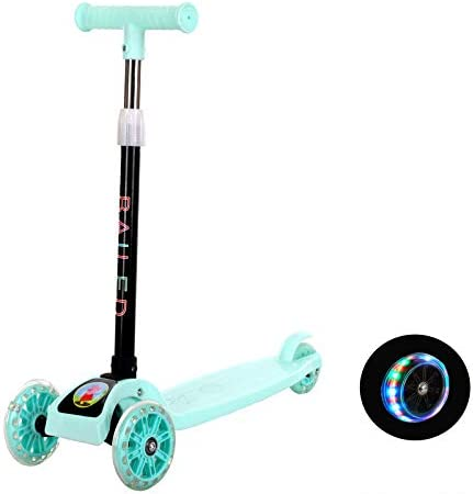 Details about  /Kids Kick Scooter 3-Wheel Foldable Adjustable Flashing Wheels Gift for c 07