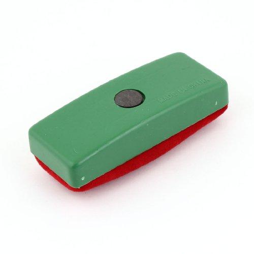 Uxcell Magnetic Chalk Blackboard Velvet Eraser Wipe Cleaner, Green Red