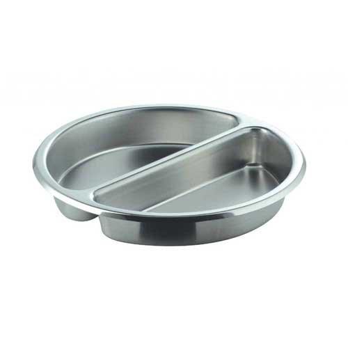 Smart Buffet Ware (Smart Buffet Ware 1A11222 Divided Medium Round Stainless Steel Food Pan)