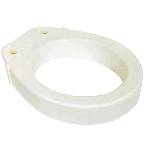 Elongated Toilet Seat Riser - Easy Installation - Raises Your Seat 3.5 by CloseoutZone by CloseoutZone