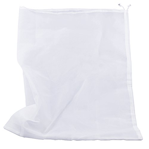 Pinfox 75 Micron Nylon Straining Bag Fine Mesh Food Strainer Filter Bags for Nut Milk, Green Juice, Cold Brew, Home Brewing (25.39