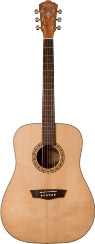 t Series Solid Sitka Spruce/Mahogany Dreadnought Acoustic Guitar - Natural Gloss (Gloss Top Acoustic Guitar)