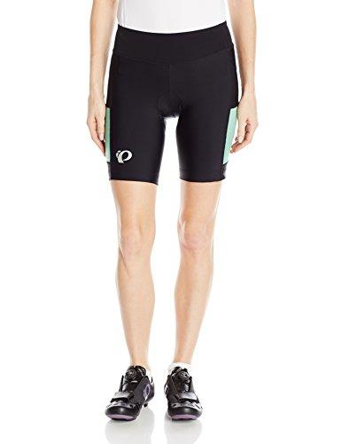 Pearl iZUMi Women's Select Escape Shorts, Black/Green Spruce Herringbone, - Herringbone Trendy