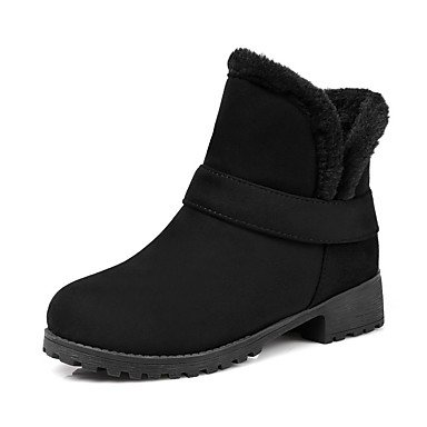 Women'S Booties RTRY Boots Toe 5 UK4 Boots Party Round 5 Leatherette Evening 7 For Comfort EU37 Beige Dress 5 Winter US6 Shoes Ankle amp;Amp; Black CN37 d8f8prA