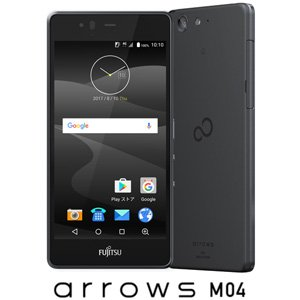 Fujitsu SIM free smartphone arrows M04 black FARM 06303 (M04 brack) made in Japan(Japan Import-No Warranty)