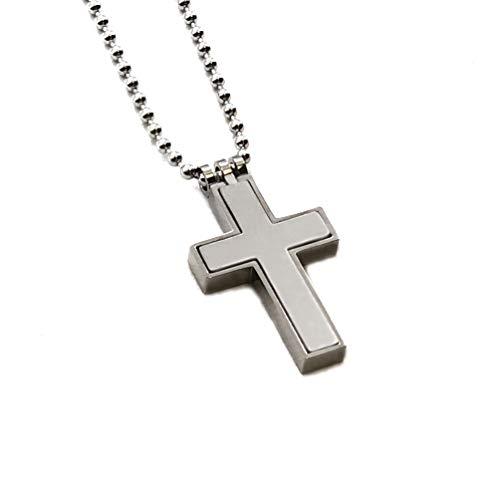 Accents Kingdom Titanium Cross Pendant Necklace, Classical C3