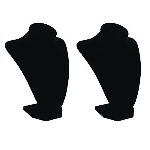 Elegant Black 1999-084 Velvet Jewelry Stand, 9-Inch Mannequin Jewelry Torso 3-Dimensional (2) by Anapoliz