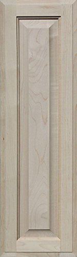 - Unfinished Maple Cabinet Door, Square with Raised Panel by Kendor, 30H x 9W