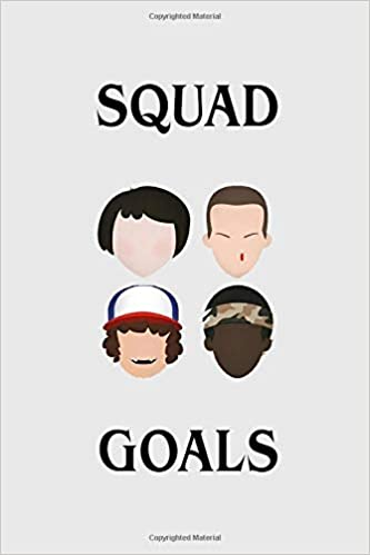 Squad Goals: Stranger things gadget, 100 lined pages: Amazon ...