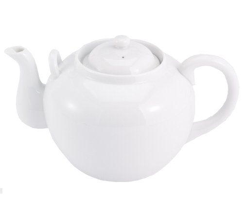 HIC Porcelain 32-ounce Porcelain Teapot with Infuser White