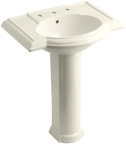 KOHLER K-2294-8-47 Devonshire Pedestal Bathroom Sink with 8