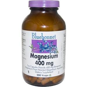 Bluebonnet Nutrition, de magnésium, 400 mg, 200 gélules végétales