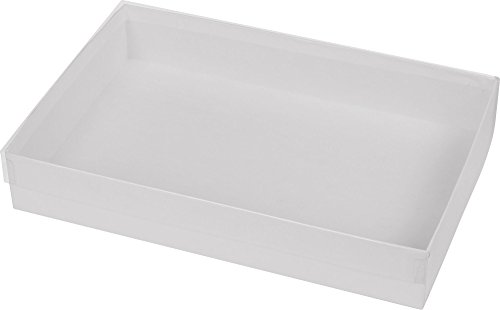 Clear Gift Boxes - Clear Top Boxes w/ White Base, 9 5/8 x 6 3/8 x 1 5/8