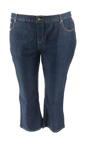 Liz Claiborne NY Jackie Straight Leg Ankle Jeans Dark Rinse 24P New A261295