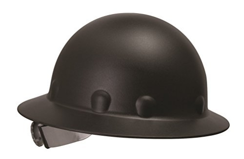Fibre-Metal by Honeywell P1ARW11A000 Roughneck Full Brim Hard Hat with Strip-Proof and Crack-Proof Ratchet Headgear, Black by Honeywell