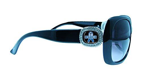 Usher Awareness Black Womens Crystal Fashion Sunglasses Gift - Usher Sunglasses